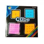 Set de 4 Cuburi 2x2x2-5x5x5, color